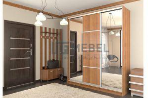 Шкаф купе 3-х дверный со вставками и зеркалами 1900 - Мебельная фабрика «ITF Mebel»