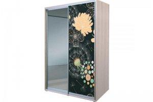 Шкаф-купе Алеф печать на стекле и зеркало - Мебельная фабрика «ДОСТО»