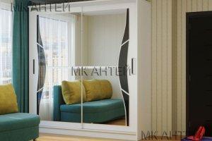 Шкаф-купе Бабочка с зеркалами - Мебельная фабрика «Антей»
