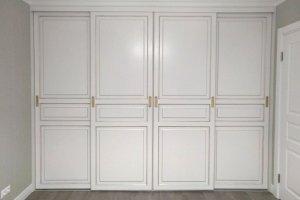 Шкаф-купе белый встроенный - Мебельная фабрика «Красивый Дом»