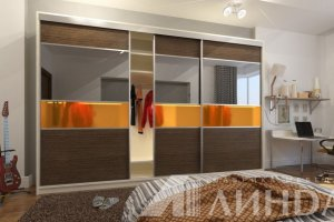 Шкаф-купе большой Геометрия - Мебельная фабрика «Линда»