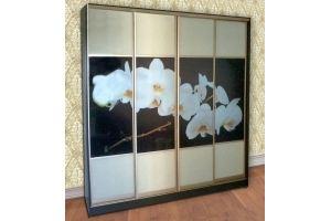 Шкаф-купе четырехдверный с фотопечатью - Мебельная фабрика «Наша Мебель»