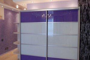Шкаф-купе фиолетовый глянец - Мебельная фабрика «Архангельская мебельная фабрика»