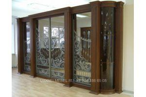 Шкаф-купе из массива 1563 - Мебельная фабрика «ЛюксБелМебель»