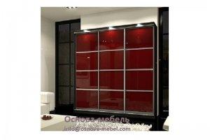 Шкаф-купе красный трехстворчатый - Мебельная фабрика «Основа-Мебель»