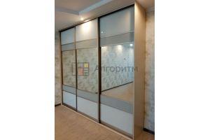 Шкаф-купе ЛДСП со стеклом - Мебельная фабрика «Алгоритм»