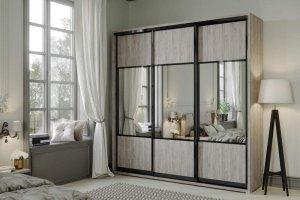 Шкаф-купе Нео 3-х створчатый комбинированный - Мебельная фабрика «САНТАН»