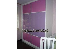 Шкаф-купе розовый 0039 - Мебельная фабрика «САнЭК»