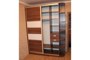 Шкаф-купе с боковыми полками - Мебельная фабрика «Santana»