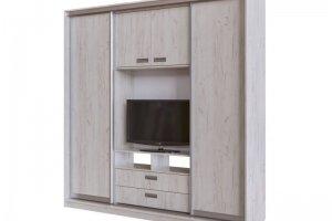 Шкаф-купе с наполнением под ТВ - Мебельная фабрика «CALPE»