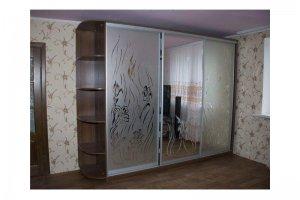 Шкаф-купе с пескоструйным рисунком - Мебельная фабрика «Деталь Мастер»