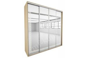 Шкаф-купе с пескоструйным рисунком РОДОС 4 - Мебельная фабрика «МФ-КУПЕ»