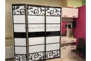 Шкаф-купе с рисунком для прихожей - Мебельная фабрика «Дэрия»