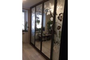 Шкаф-купе с рисунком на зеркале - Мебельная фабрика «КамиАл»