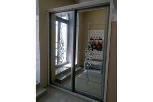 Шкаф-купе с витражным рисунком - Мебельная фабрика «Мебель РОСТ»