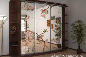 Шкаф-купе с витражным рисунком - Мебельная фабрика «Абсолют»