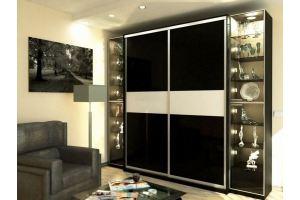 Шкаф-купе с витриной - Мебельная фабрика «Люкс-С»