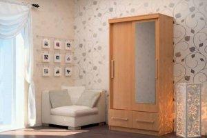 Шкаф-купе с ящиками двухстворчатый - Мебельная фабрика «Первомайское»