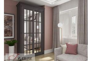 Шкаф-купе с зеркалом эмаль - Мебельная фабрика «ГЕЛИОН»
