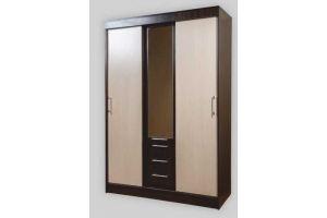 Шкаф-купе с зеркалом и ящиками СП-3 - Мебельная фабрика «SPSМебель»