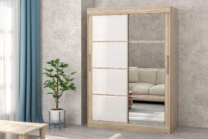 Шкаф-купе с зеркалом Модерн сонома - Мебельная фабрика «Зарон»
