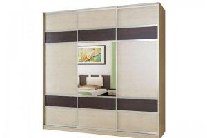 Шкаф-купе с зеркалом трехдверный - Мебельная фабрика «М-Сервис»
