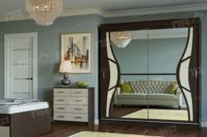 Шкаф-купе Бабочка в спальню - Мебельная фабрика «Памир»