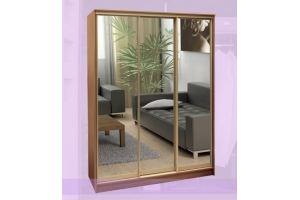Шкаф-купе трехстворчатый зеркальный - Мебельная фабрика «Buena»