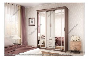 Шкаф-купе Уют-3 - Мебельная фабрика «Пеликан»