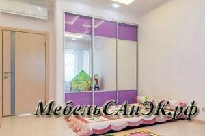 Шкаф-купе в детскую комнату 007 - Мебельная фабрика «САнЭК»