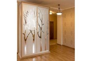 Шкаф купе в гостиную с деревьями - Мебельная фабрика «ARLINE»
