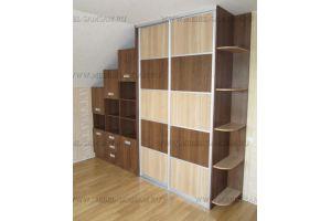 Шкаф-купе в мансардной - Мебельная фабрика «SamSam»