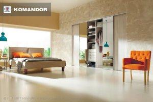 Шкаф-купе в спальню  061  - Мебельная фабрика «Командор»