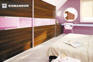 Шкаф-купе в спальню  062 - Мебельная фабрика «Командор»