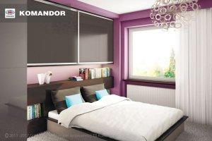 Шкаф-купе в спальню  063 - Мебельная фабрика «Командор»