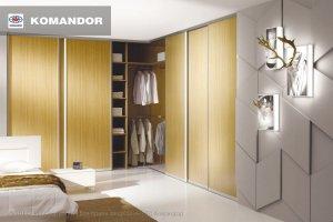 Шкаф-купе в спальню  064 - Мебельная фабрика «Командор»