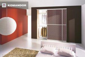 Шкаф-купе в спальню  065 - Мебельная фабрика «Командор»