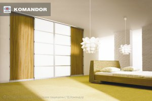 Шкаф-купе в спальню  066 - Мебельная фабрика «Командор»
