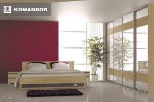 Шкаф-купе в спальню  070 - Мебельная фабрика «Командор»