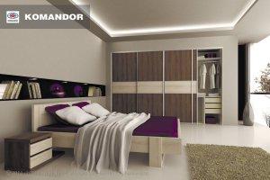 Шкаф-купе в спальню  071 - Мебельная фабрика «Командор»
