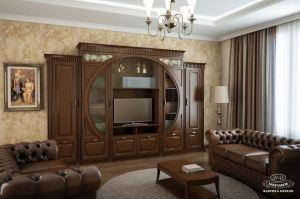 Стенка в гостиную (круглая) - Мебельная фабрика «Молчанов»