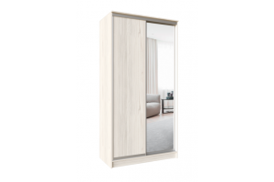 Шкаф-купе Версаль Эко 2 двери с зеркалом - Мебельная фабрика «Континент»