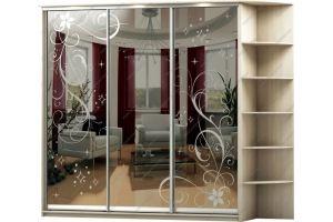 Шкаф-купе зеркальный 4 - Мебельная фабрика «Вертикаль»