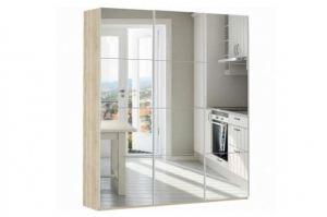 Шкаф-купе зеркальный трехдверный Прайм - Мебельная фабрика «Е1»