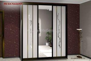 Шкаф-купе зеркало с пескоструйным рисунком - Мебельная фабрика «Мебельщик»