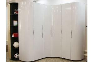 Шкаф МДФ радиусный Оливия - Мебельная фабрика «Элика мебель»