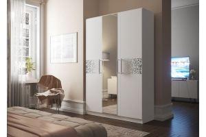 Шкаф МОРИС-Люкс с фотопечатью (белый) - Мебельная фабрика «ТМК (Техномебель)»