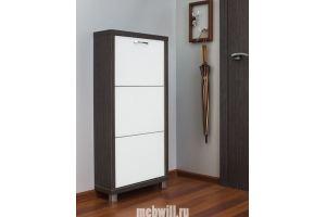 Шкаф обувной Люкс 3 Стекло белое - Импортёр мебели «Мебвилл»
