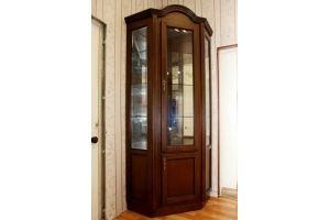 Шкаф-пенал с витриной - Мебельная фабрика «Настоящая Мебель»