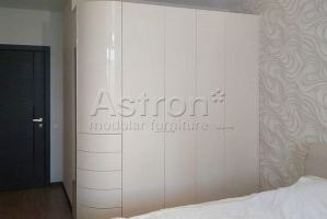 Шкаф радиусный белый w190211 - Мебельная фабрика «Астрон»